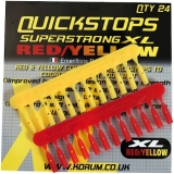 Korum Quickstops XL Rot/Gelb